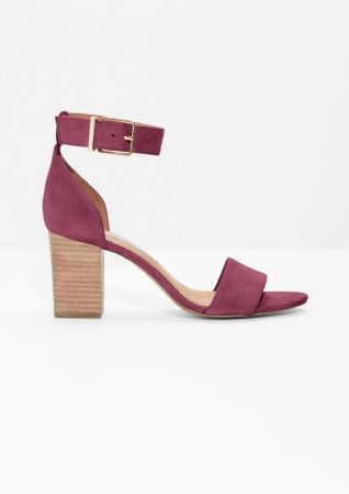 & Other Stories | Almond Toe Suede Sandals