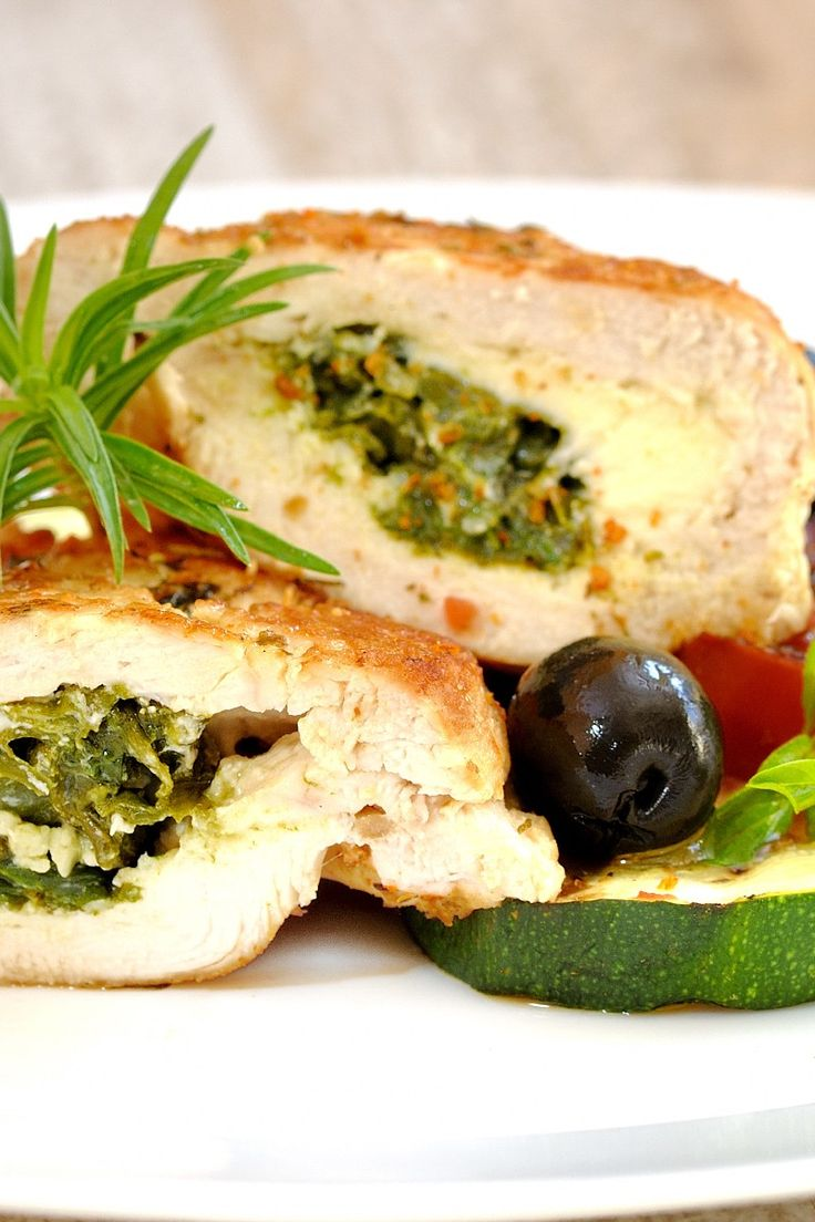 Spinach & Feta Stuffed Chicken Breast (Quick & Easy) Recipe #chicken #stuffed #spinach #dinner #quickmeal