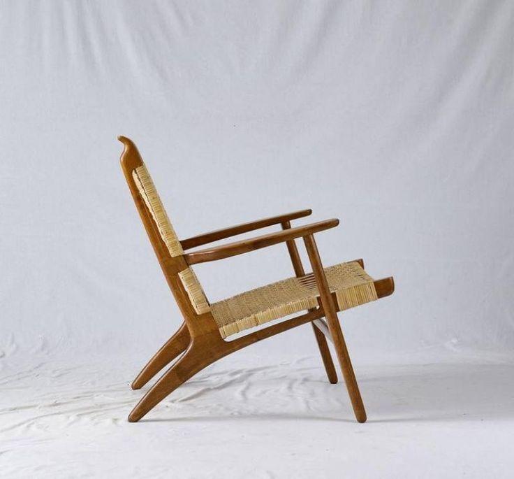 Hans Wegner Ch 27 Lounge Chair In 2019 Milo Baughman