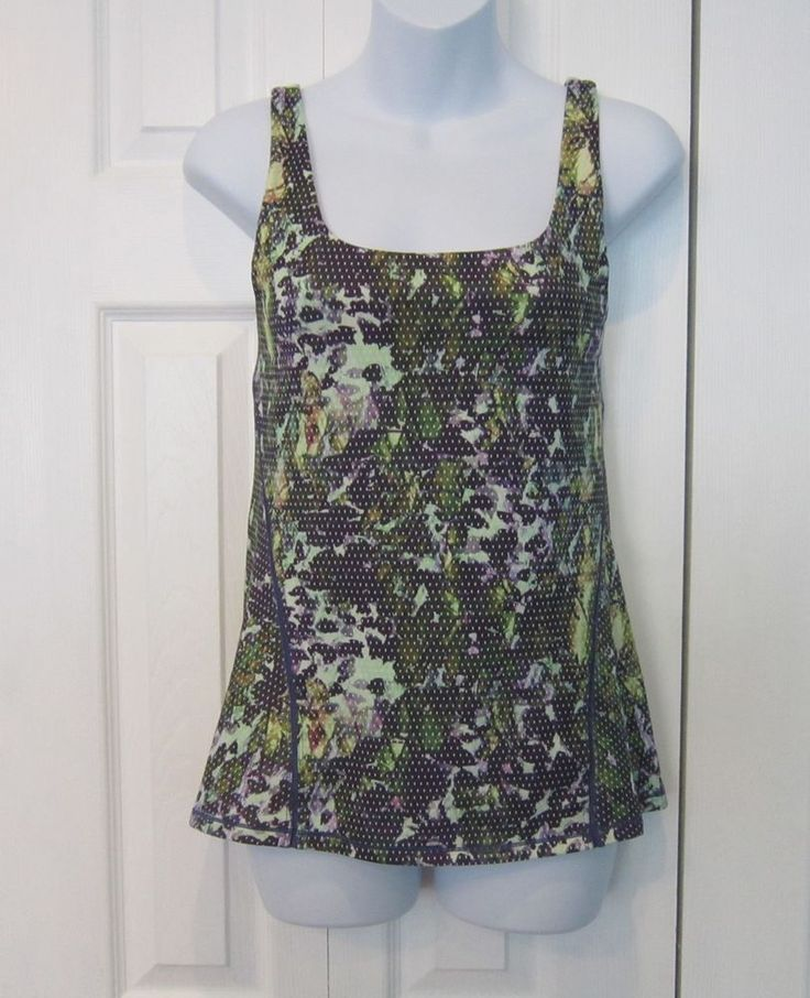 Lululemon Amala Tank Top Green Purple Floral Dot Print 6 #Lululemon #ShirtsTops