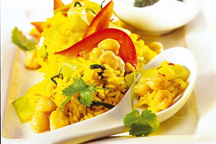 Das Rezept für Gemüse-Curry mit Kichererbsen mit allen nötigen Zutaten und der einfachsten Zubereitung - gesund kochen mit FIT FOR FUN