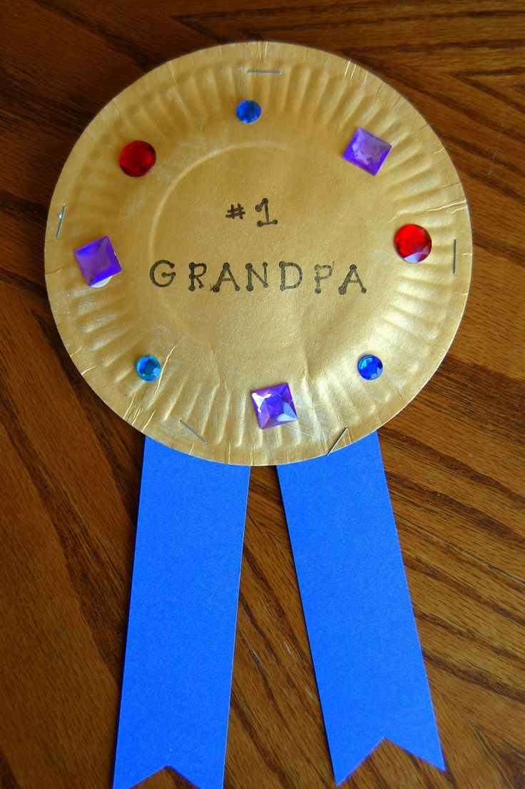craft for grandparents day  Gold Award for Grandma & Grandpa