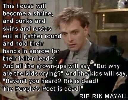 Rik Mayall, 1958 - 2014.