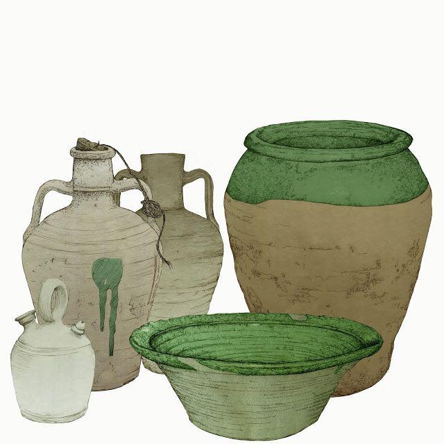 Ceramica De Barro Cantaros Botijo Orza Lebrillo Dibujo Vasija De Barro Ceramica De Barro Jarrones
