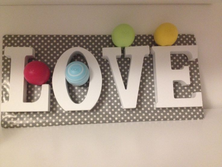 LOVE Buchstaben mit EOS