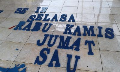 jual karpet nomad 3M 089604376367: CUSHION MATS PVC 8A FULL COLOUR  WITH FASHION WORD...