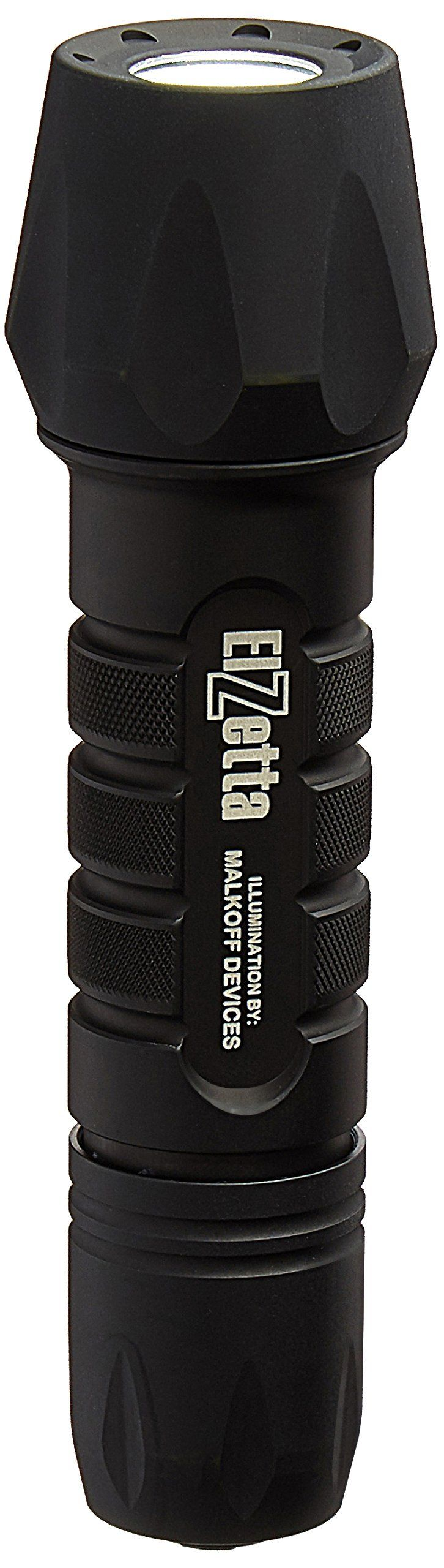 Elzetta ZFL-M60-SS2C Tactical Weapon LED Flashlight with Standard Bezel, M60, 2-Cell, Click Switch. Unsurpassed Ruggedness & Durability. 235 Lumens Worth of Blinding Bright Light. Anti-Roll Bezel. Extremely Compact. Standard Bezel.