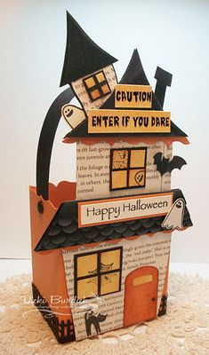 Fancy Favour box dressed up for Halloween.  Cute!