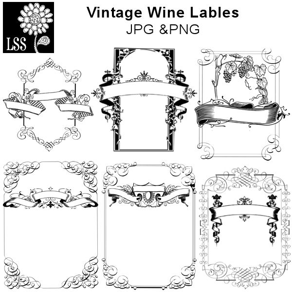 here are some elegant labels that you can use to customize wine