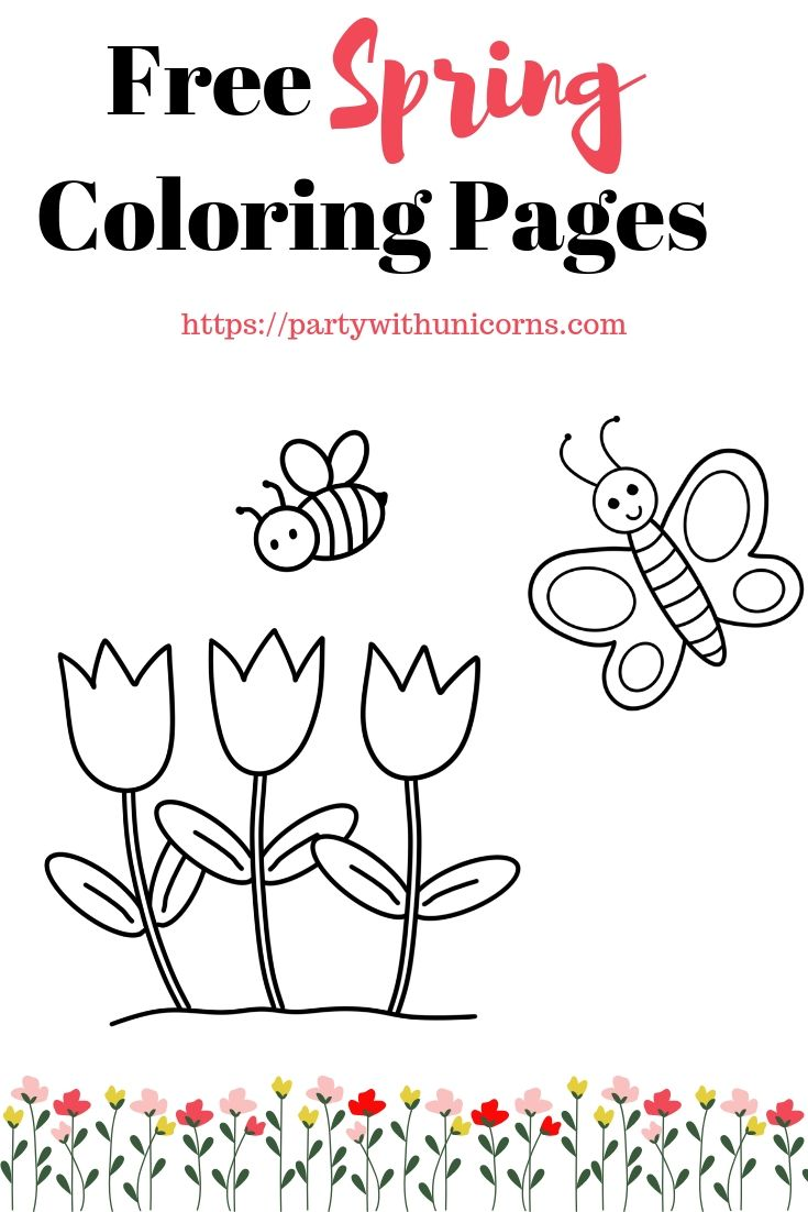 Spring Coloring Pages Printable Coloring Pages Spring