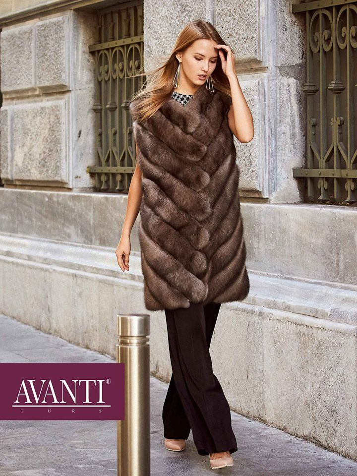 AVANTI FURS - MODEL:  BERTILE 2 SABLE VEST   #avantifurs #fur #fashion #sable #luxury #musthave #мех #шуба #стиль #норка #зима #красота #мода #topfurexperts