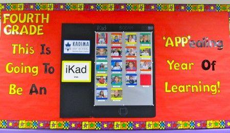 Bulletin Board: Ipad Bulletin Board, School Bulletin Boards, High School, School Stuff, School Ideas, Bulletinboards, Classroom Ideas, Back To School