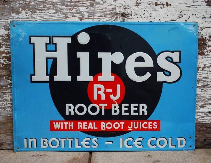 "55 Likes, 3 Comments - Locker145 (@locker145) on Instagram: ""Embossed Hires Root Beer Sign.  27 1/2 x 20 #sign #hires #rootbeer #soda #vintage #forsale…"""