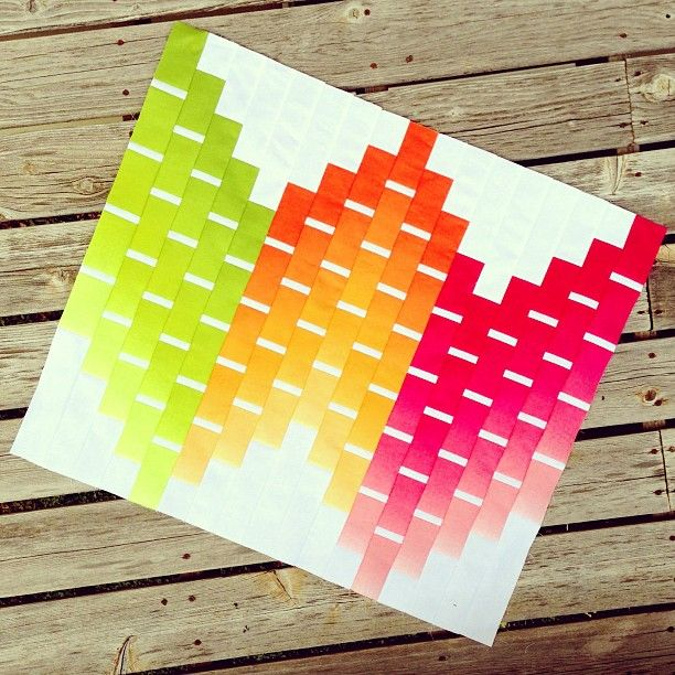Ombre quilt pattern by Vanessa Christenson, created by Canoe Creations