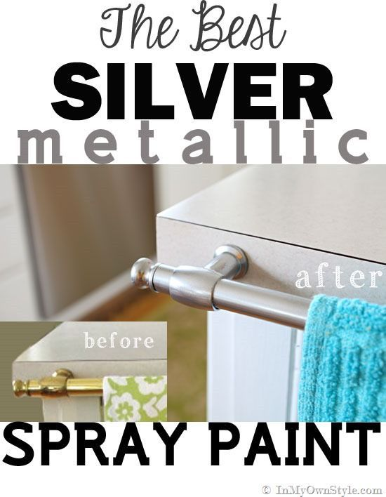 Spray painting metal hardware brass to nickel silver