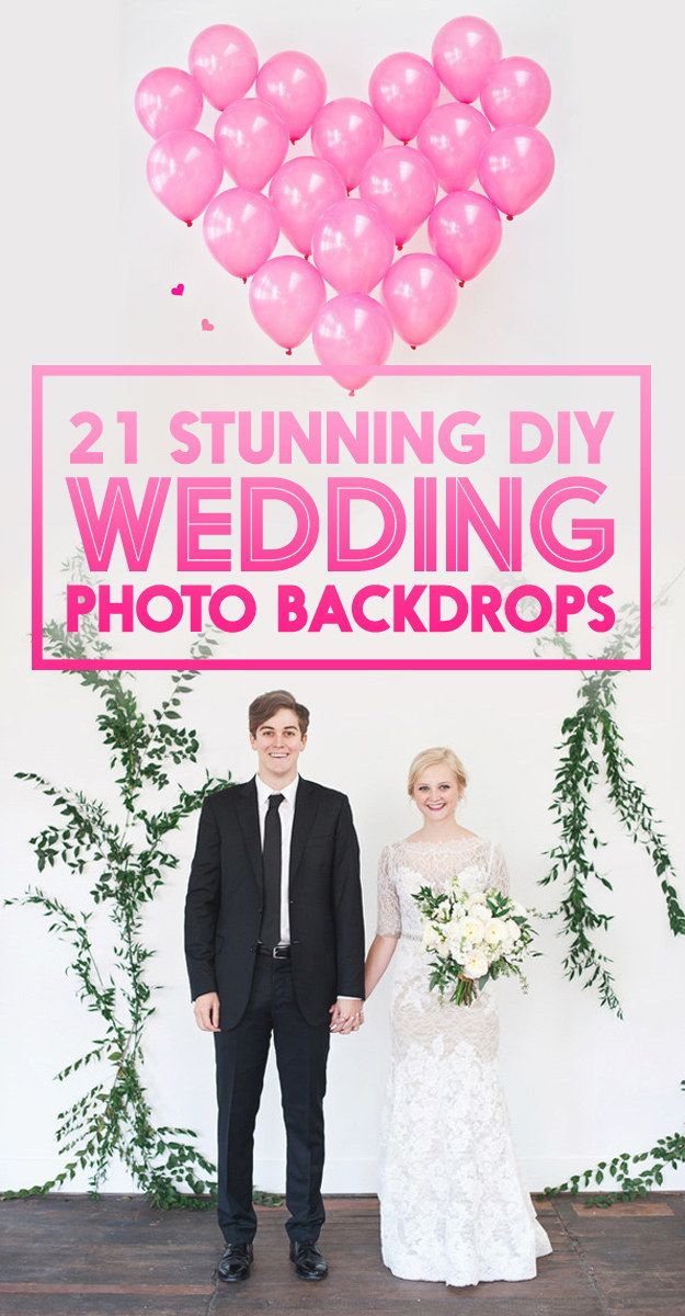 21 Wedding Photo Backdrops You Can Make Yourself