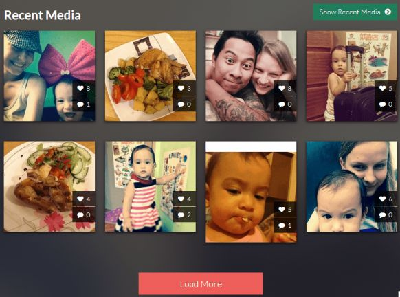 Pongstagr.am is a jQuery plugin that lets display your instagram media to your website using Bootstrap Front-end styles and modal-plugin. more detail http://blogupstairs.com/display-your-instagram-photo-to-your-website-using-bootstrap-jquery/