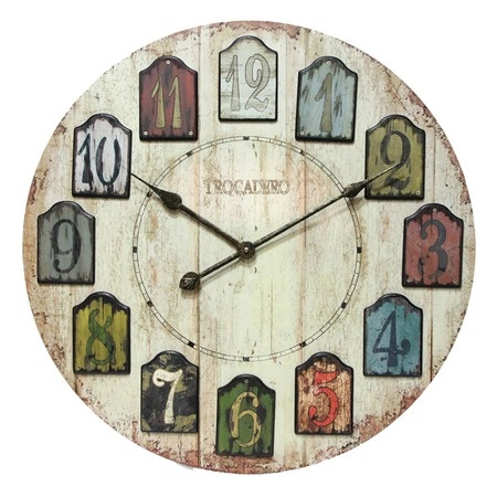 I pinned this Trocadero Wall Clock from the All In a Day's Work event at Joss and Main!Planks Wall, Plank Walls, Living Room, Wall Clocks, Infinity Instruments, Home Kitchens, Furniture Decor, Wood Wall, Weather Planks