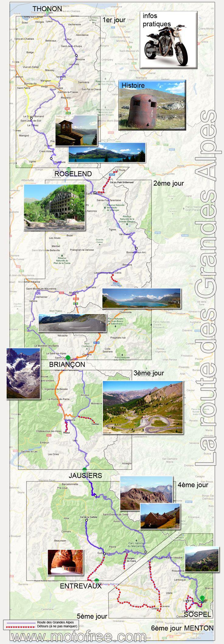 route des Grandes Alpes la carte