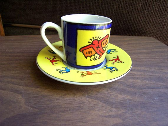 Keith Haring Cup and Saucer Vintage Set by MyKnickKnackStore, $30.00