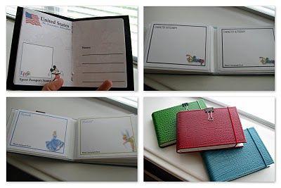 DIY Disney World Passport Book and Autograph Book