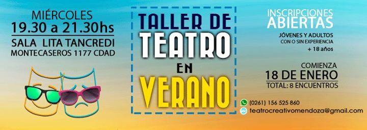 """Taller de Teatro en Verano - Inicia 18 de enero ►►►Taller de Teatro en Verano◄◄◄  """"Como acción artística original y diferenciada, el teatro es el que modifica alguna o varias de las ... http://sientemendoza.com/event/taller-de-teatro-en-verano-inicia-18-de-enero/"""