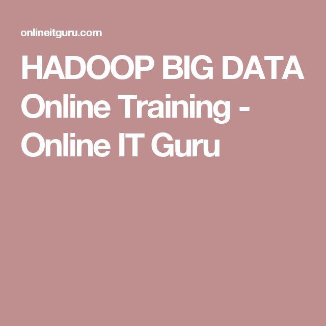 HADOOP BIG DATA Online Training - Online IT Guru