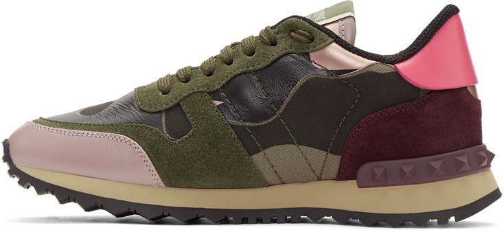 Valentino - Green Valentino Garavani Camo Rockrunner Sneakers