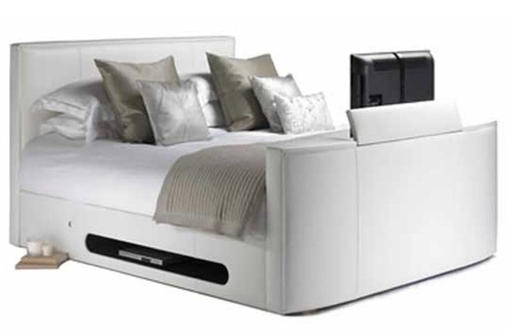 Bed Frame with Built-In LCD TV