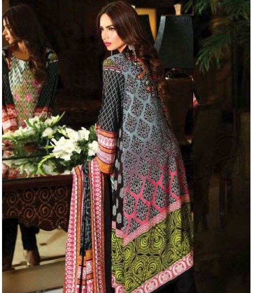 Lala Classic Embroidered Linen Suits collection LLE_10A