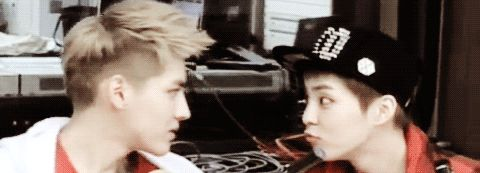 """""""(Gif) Kris and Xiumin are too adorable for their own good"""" EXO"""