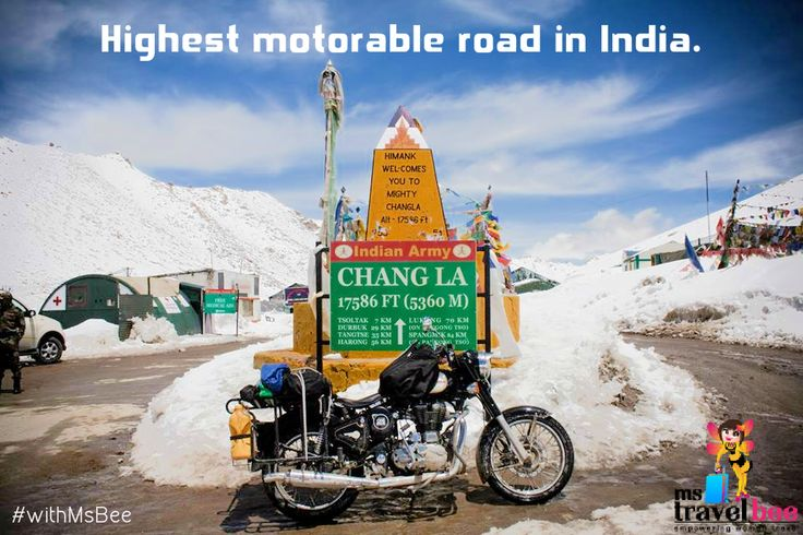 Chang La, India's highest motorable road. Experience the majesty of mother earth #withMsBee. http://bit.ly/1Gnl7mT