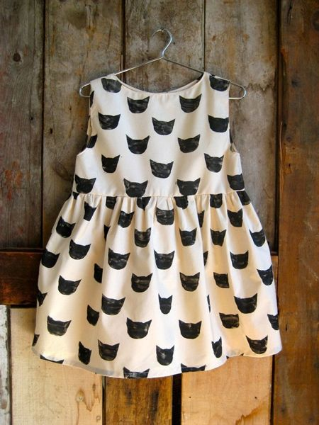 black cat dress / Sho and Tell