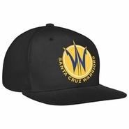 Santa Cruz Warriors adidas Black Flat Brim Snapback Cap