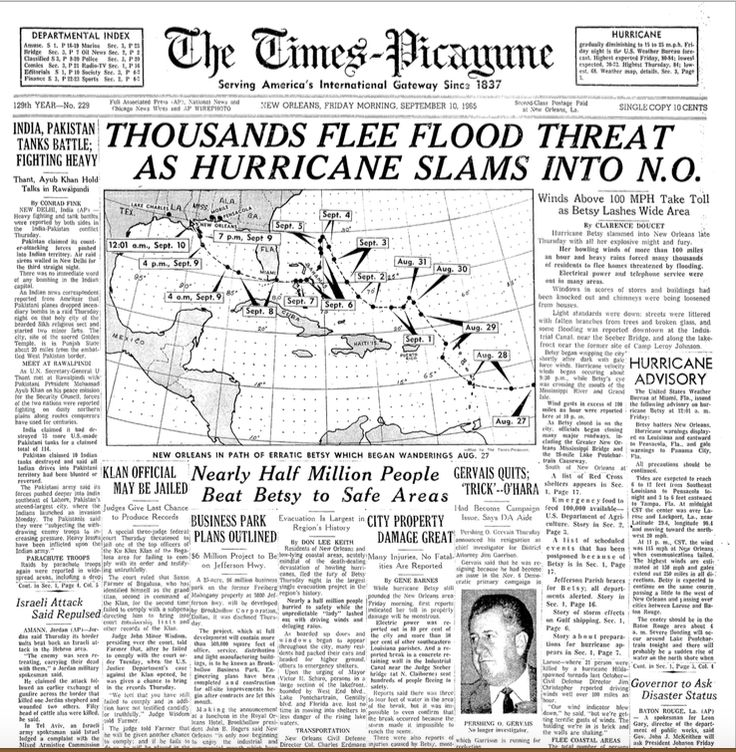1965: Hurricane Betsy smashes ashore near New Orleans | NOLA.com