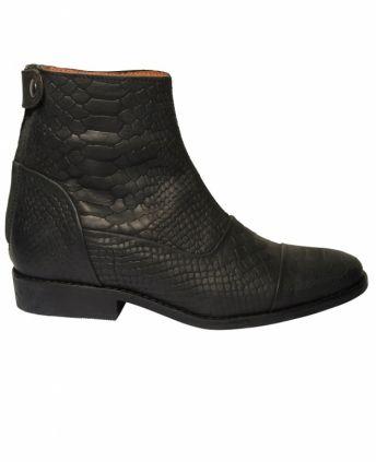 Pavement Silja Black Croco - Sko/støvler - MaMilla