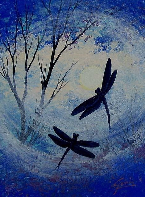 Dragonflies Meeting Place From My Original Acrylic Painting I Hope You Enjoy Your Visit All Wall PaintingsAcrylic PaintingsPainting CanvasDecorative