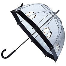 Buy Fulton Monty & Mabel Birdcage Umbrella, Clear/Black Online at johnlewis.com