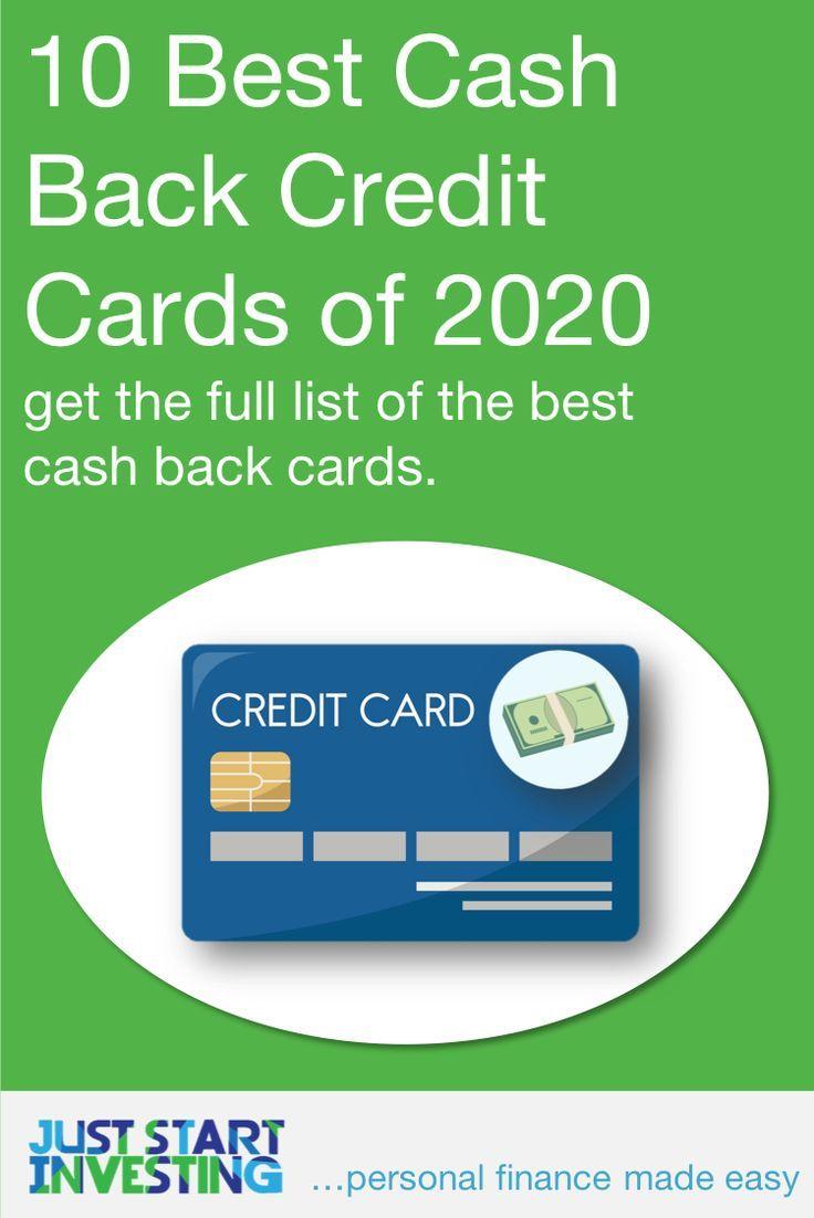 10 best cash back credit cards of 2020 in 2020  best