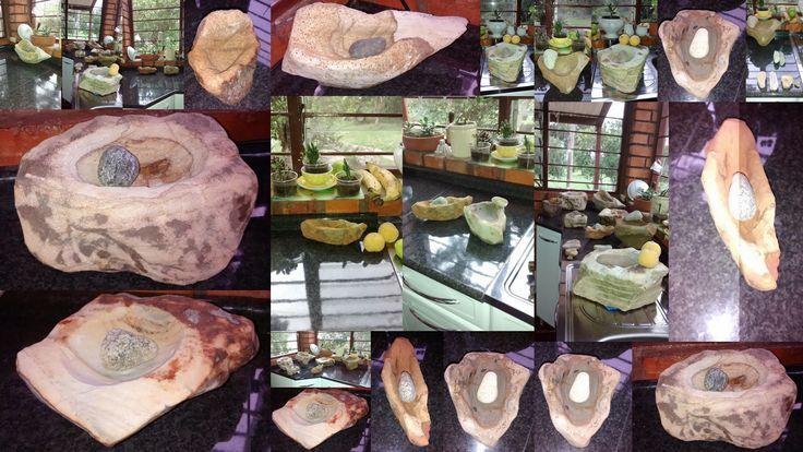 Collage de Piedras de Moler Talladas