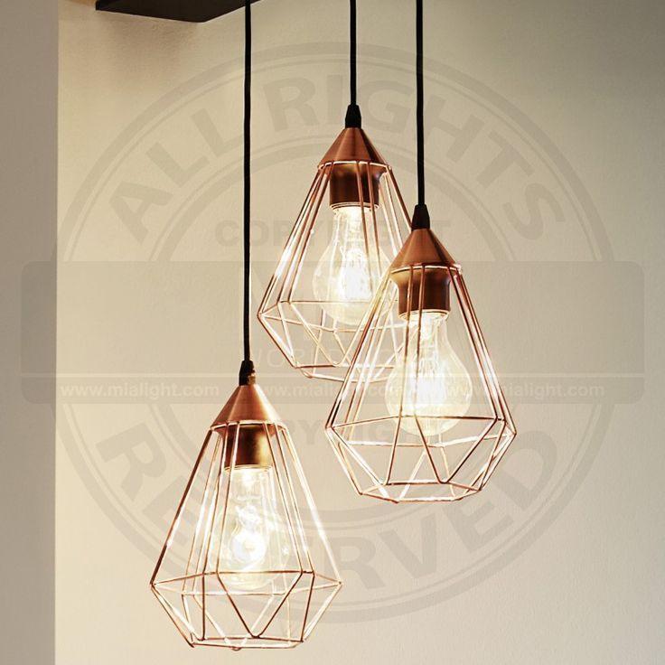 Design Hange Leuchte O310mm Retro Shabby Vintage Kupfer Pendel Lampe Gitt Design Gitt Hange Ku Dekorative Lampen Anhanger Lampen Rustikale Lampen
