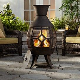 For Living Hudson Chiminea | Luxe Lounge | Canadian Tire http://www.canadiantire.ca/inspiration/en/seasonal/canvas/luxe-lounge.html #MyCANVAS