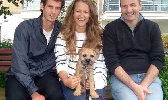 Andy Murray, Kim Sears, Maggie May, and Andy's father, William
