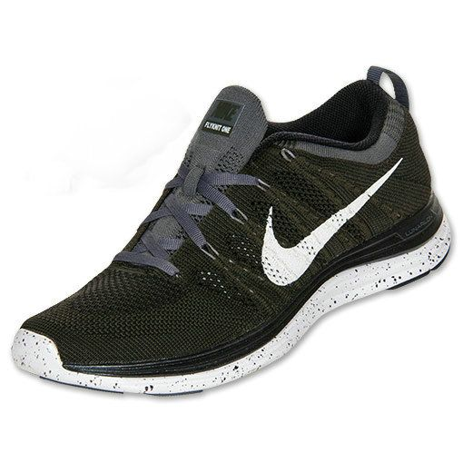 separation shoes d0a99 63ac3 Mens Nike Flyknit Lunar 1 Sequoia White Black Dark Charcoal 554887 310