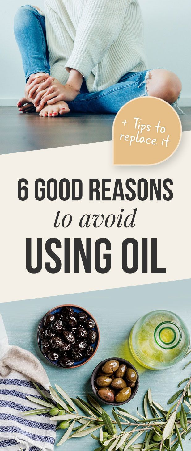 Always thought that you should add healthy oils to your food? Here are 6 good reasons why you might want to reduce or skip them altogether... plus our best tips for replacing them.  #HealthyEating  #WeightLoss  #Healing  #HeartDisease  #Obesity  #WholeFoods  #WFPB