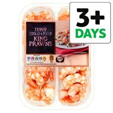 Tesco Cooked And Peeled King Prawns 160G - Groceries - Tesco Groceries