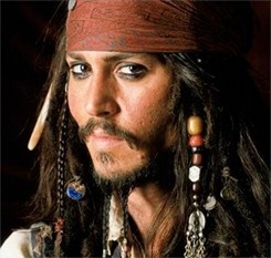 as Captain Jack Sparrow