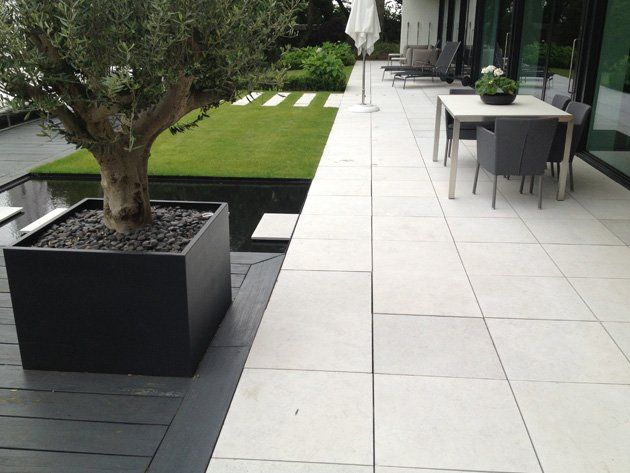 White Concrete Patio Google Search Concrete Patio