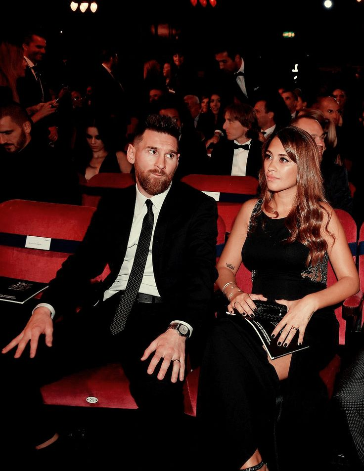 "sashapique: """" Lionel Messi and wife Antonela Roccuzzo at The Best FIFA Football Awards on October 23, 2017 in London, England. "" """