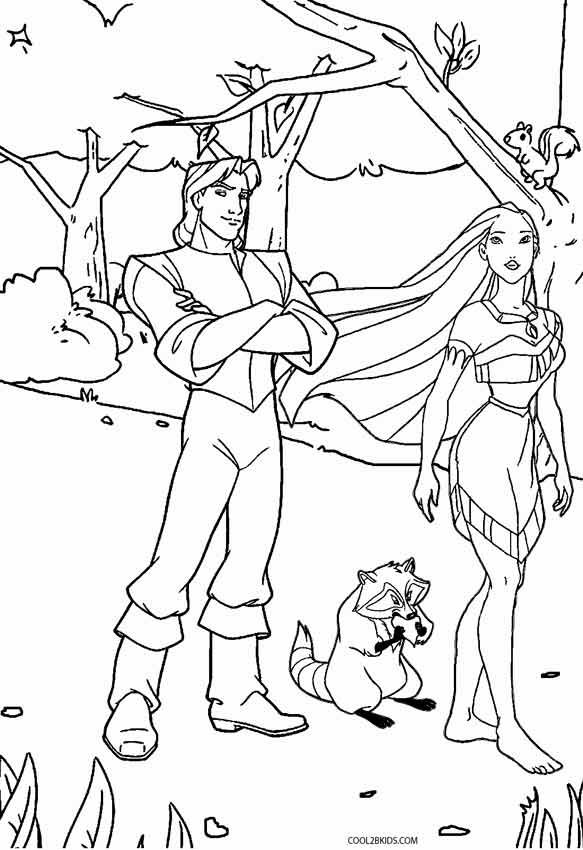 free printable historical pochahantas coloring pages | Printable Pocahontas Coloring Pages For Kids | Cool2bKids ...